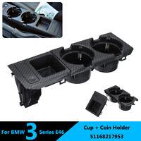 Kit Porte-gobelet Console Centrale Avant Boîte Monnaie pour BMW E46 51168217953