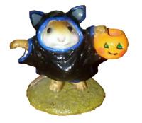 Wee Forest Folk Halloween BAT MOUSE Mouse Costume Jack o' lantern Miniature Mous