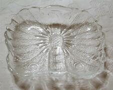 BEAUTIFUL RARE VINTAGE CLEAR GLASS BUTTERFLY SHAPE CANDY/TRINKET DISH-MINT