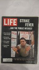 Life Magazine August 26th 1966 Strike Fever Planes Grounded Published By Time
