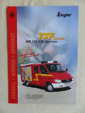 Ziegler Feuerwehr TSF Doka auf MB 313 Sprinter - Prospekt Brochure 09.2005