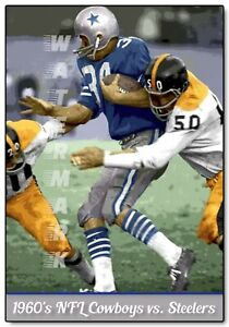 DALLAS COWBOYS at PITTSBURGH STEELERS 1966 (4 sizes) PRINT FROM NEGATIVE