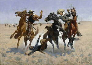 Frederic Remington Untitled 2 Poster Reproduction Paintings Giclee Canvas Print