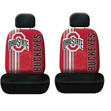 Ohio State Buckeyes Set of 2 Rally Print Seat Covers