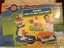 Bill Nye PAPER RECYCLING FACTORY Elmer's Teachers School Toy NEW vtg craft kit