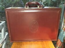 RARE !!Vintage Cartier Briefcase Combination Overnight Bag from Paris 1977