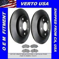 Front Brake Rotors Pads For Jeep Wrangler 2007-2008-2009-2010-2011-2012 to 2014