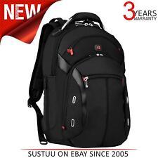 "Wenger Gigabyte 15"" MacBook Backpack¦Business Organiser Bag¦Trolley Strap¦Black"