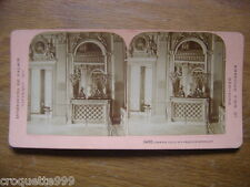 1901 Ancienne photo stereo American view New York VERSAILLES CHAMBRE LOUIS XIV