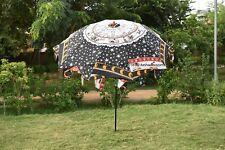 Indian Astrology Mandala Garden Umbrella Colorful Sunshade Patio Outdoor Parasol
