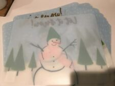 12 BRAND NEW LET IT SNOW PLACEMATS
