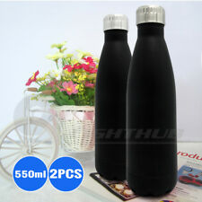 2x Cola Shaped Insulated Vacuum Office Water Bottle Camping Hiking School Kettle