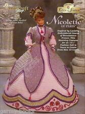 Nicolette of Paris Ladies of Fashion Crochet Gown Pattern for Barbie Dolls NEW