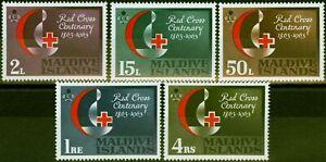 Maldive Islands 1963 Red Cross Set of 5 SG125-129 Very Fine MNH