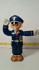 Vintage rare nomura tin policeman traffic cop wind up mechanical
