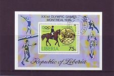 Liberia Mi 996 Block 80A Olympic Games 1976 Used C.W. 2,50 euro