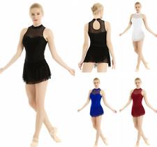 Women Ladies Contemporary Ballet Dance Dress Leotard Unitards Gymnastics Costume