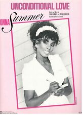 "DONNA SUMMER ""UNCONDITIONAL LOVE"" SHEET MUSIC-PIANO/VOCAL/GUITAR/CHORDS-1983-NEW"