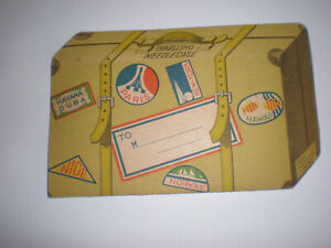 VINTAGE SEWING NEEDLES,TRAVELLING NEEDLE CASE,MADE IN OCCUPED JAPAN