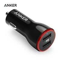 Anker 24W Dual USB Car Charger PowerDrive 2 for Samsung Galaxy Apple iPhone 6s