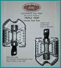 TRIPLE TRAP CUSTOM FOOT PEGS FLOORBOARD HARLEY DAVIDSON
