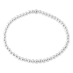 Sterling Silver Beaded Bracelet - Small Round Circle Beads