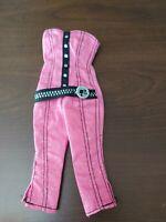 Sparkly Strapless Pink & Black Capri Jumpsuit Barbie Clothes