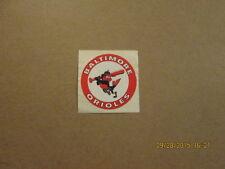 MLB Baltimore Orioles Vintage 1960's Team Logo Sticker
