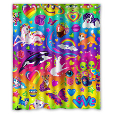 "New Polyester Waterproof  Lisa Frank Swag Custom Shower Curtain 66"" x 72"""