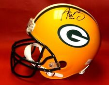 AARON RODGERS AUTOGRAPHED GREEN BAY PACKERS FS HELMET SUPER BOWL XLV MVP L AASH