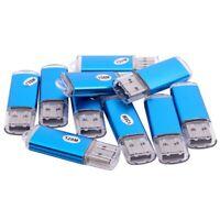 10x USB Stick 2.0 Speicherstick Flash Drive 128MB Geschenk Blau M5S2 b1