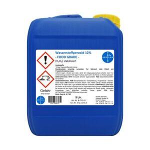 Wasserstoffperoxid 12% -FOOD GRADE- 5 Liter Pharmazentralnummer 16569707