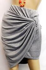 Rue+ grey twisted front spandex women's plus size 2 fer skirt 2X