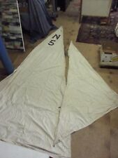 Antique Ratsey Lapthorn Boat Sail Sailcloth NY USA Circa 1910s White  Nautical