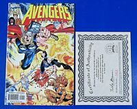 AVENGERS INFINITY #1 Signed By SEAN CHEN ~ Comic Book 2004 ~ COA #0413
