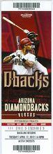 2012 Diamondbacks vs Pirates Ticket: Garrett Jones & John McDonald hit Home runs