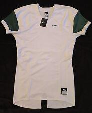 NEW Nike White Green Pro Combat Speed Football Jersey Athletes Shirt Mens XL $75