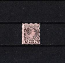 MONACO   prince Charles III    75c  noir sur rose    de 1885  num: 8   *