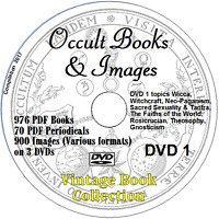 Occult Library 2500+ Vintage Books on 3 DVDs - Images Witchcraft