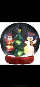 6 Foot Christmas Blow Up Inflatable Snow Globe Santa Snowmen Gemmy 2006 ME-4372