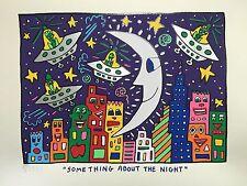 "James Rizzi: original handsigniertes Werk ""SOMETHING ABOUT THE NIGHT"", TOP"
