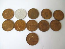 Vintage Gemini Space Program Coins III - XII & Mercury IV Bronze Lot of 11