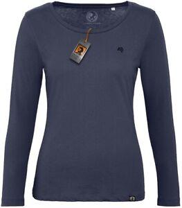 BAC TW071 Damen Bio Langarmshirt Longsleeve T-Shirt Organic COMPANIEER Blau Navy