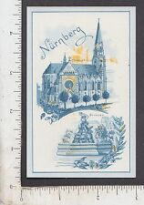 9941 J. D. Stiefel Soap trade card Nurnberg Germany cathedral Brunnen Fountain