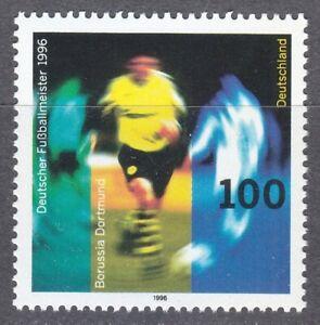 Germany 1996 MNH Mi 1879 Sc 1943 Borussia Dortmund,Champion Soccer Club **
