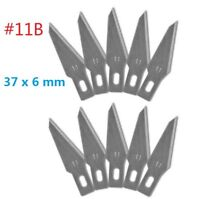 10pc #11B Replacement Hobby Classic Fine Point Blades high steel Craft Knife