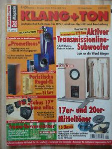 Klang & Ton 6/2002. Inhaltsverzeichniss siehe Foto