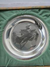 Franklin Mint John James Audubon The Wood Thrush Sterling Silver Plate