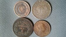 WORLD OLD COINS MEXICO 1891 - 1906 - 1946 - 1960 4 Old Coins 10-5-1-1 Cents!!!
