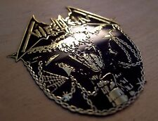 NIFELHEIM Satanatas Engraved Brass Badge Patch Pin, Collector's Grade